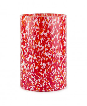 RED & IVORY TALL VASE