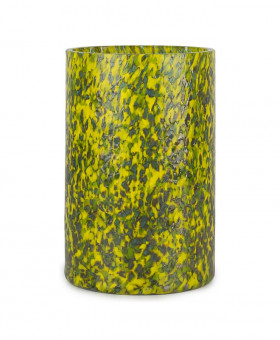 GREEN & YELLOW TALL VASE