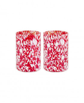 RED & IVORY TUMBLERS