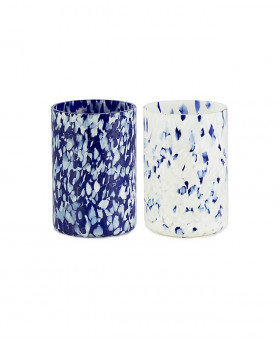 BLUE & IVORY MIX GLASSES