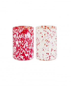 RED & IVORY MIX GLASSES