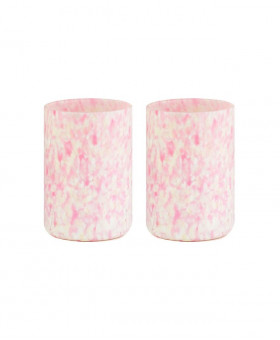 IVORY & PINK TUMBLERS
