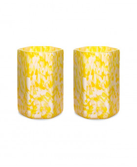 HEX IVORY & YELLOW TUMBLERS