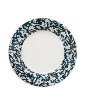 WHITE & BLUE PLAIN PLATES