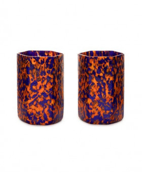 HEX ORANGE & BLUE TUMBLERS