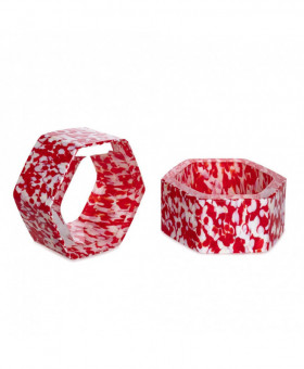 RED & IVORY NAPKIN RINGS