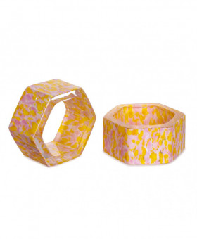 YELLOW & PINK NAPKIN RINGS