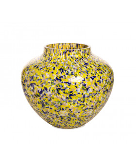 YELLOW & BLUE OLLA LARGE VASE