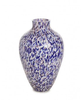 PURPLE & IVORY OLLA TALL VASE