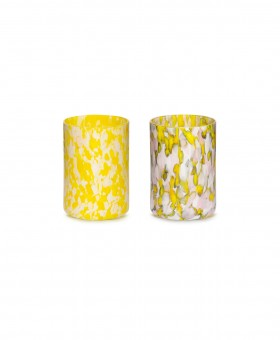 YELLOW, IVORY & PINK GLASSES