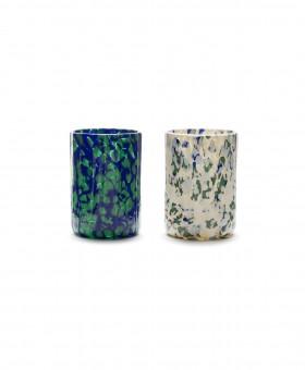 IVORY GREEN BLUE GLASSES